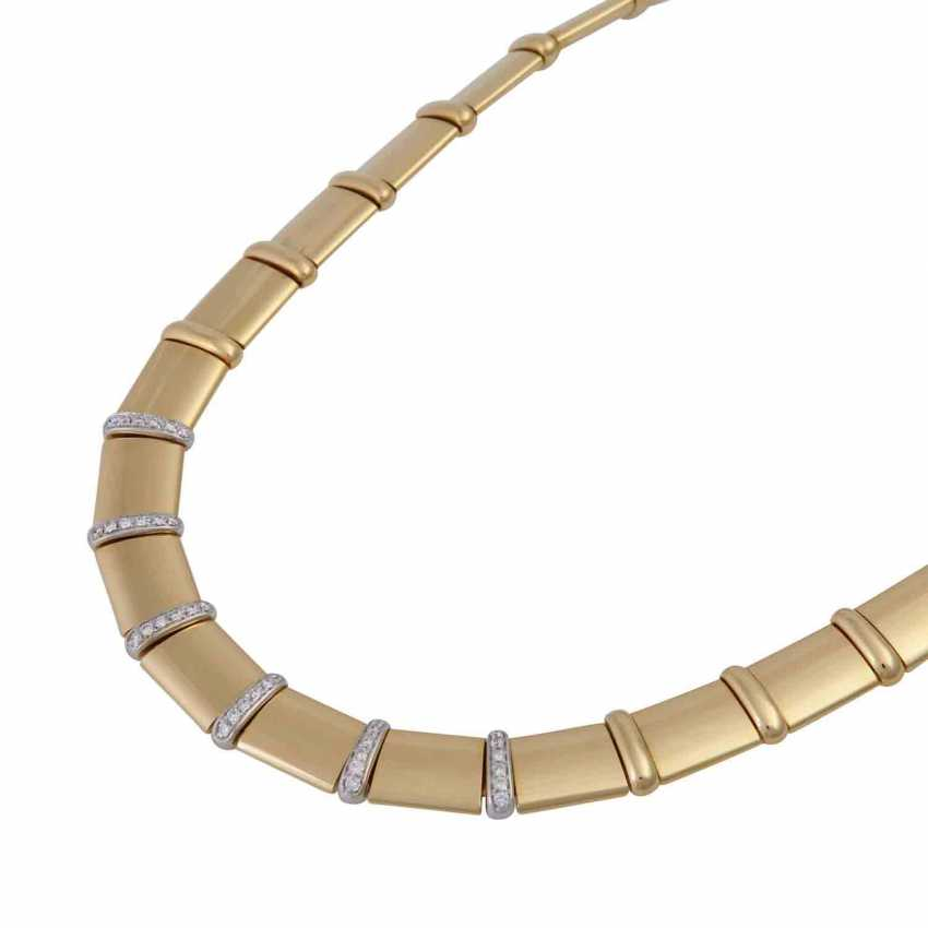 Gold necklace with diamonds - photo 4