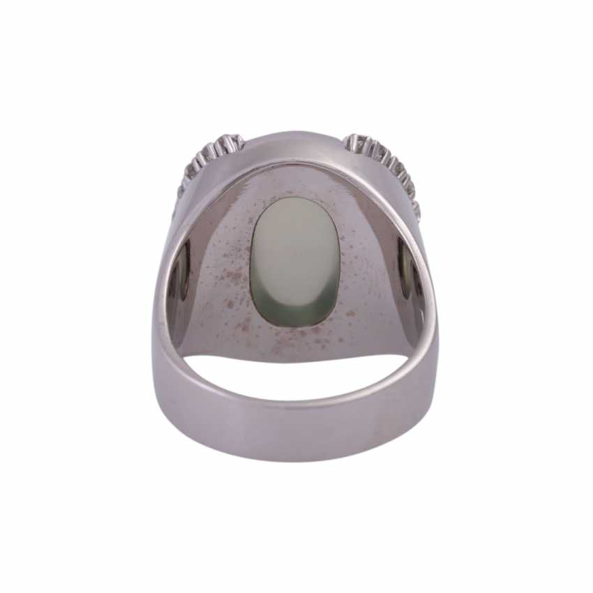 Ring with green moonstone cabochon - photo 4