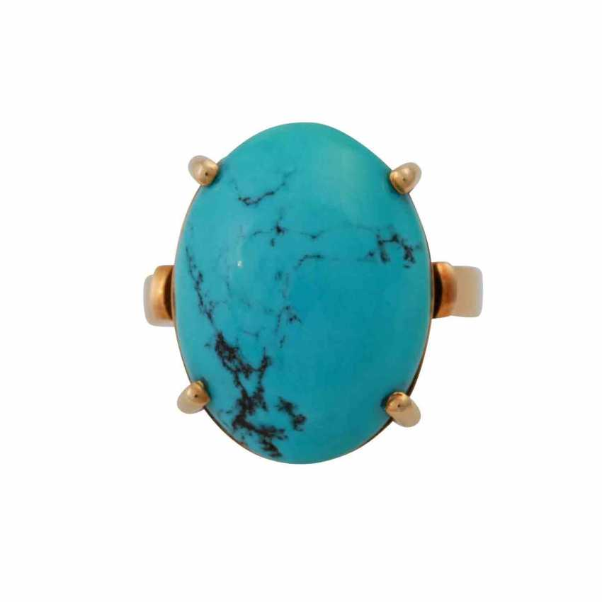 Ring with turquoise cabochon - photo 1