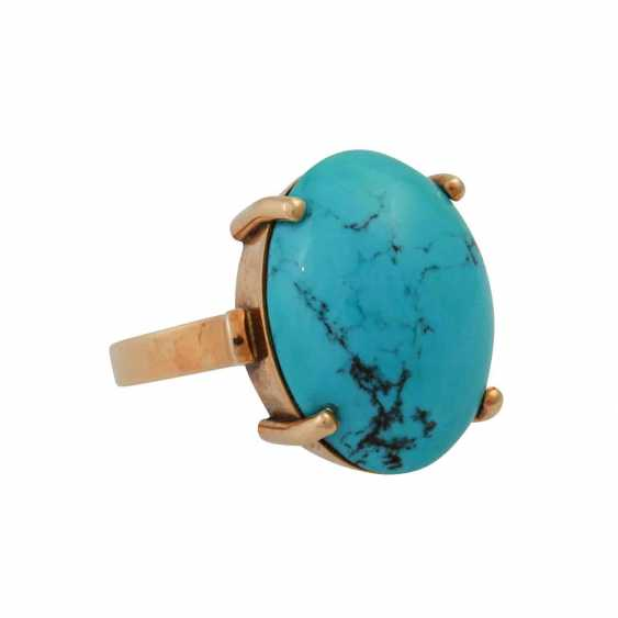 Ring with turquoise cabochon - photo 2