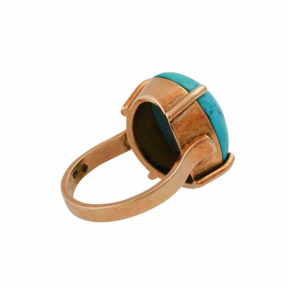 Ring with turquoise cabochon - photo 3