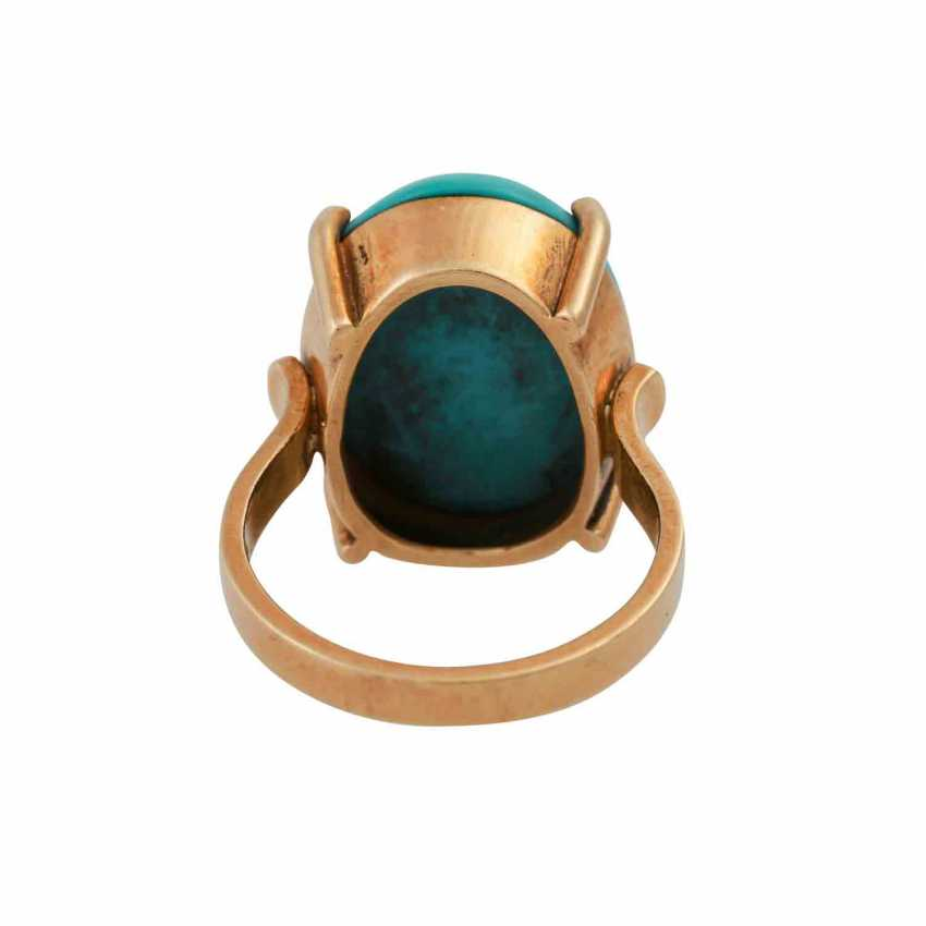 Ring with turquoise cabochon - photo 4