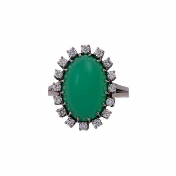 Ring mit Chrysoprascabochon - photo 1