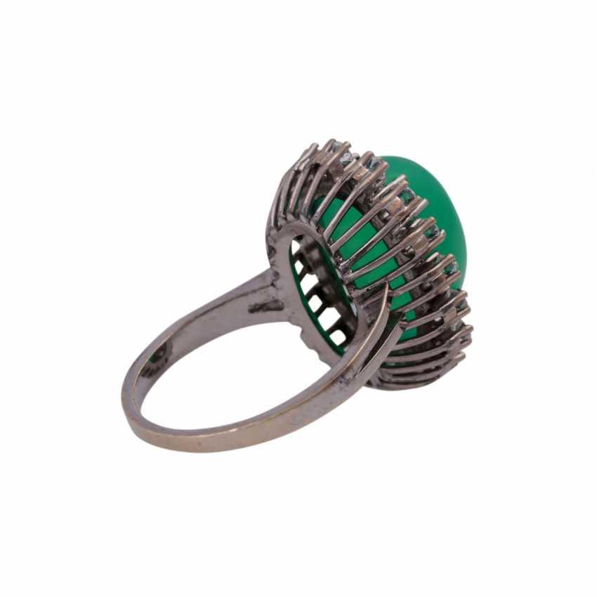 Ring mit Chrysoprascabochon - photo 3