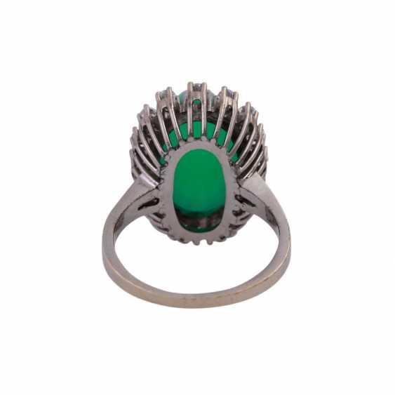 Ring mit Chrysoprascabochon - photo 4