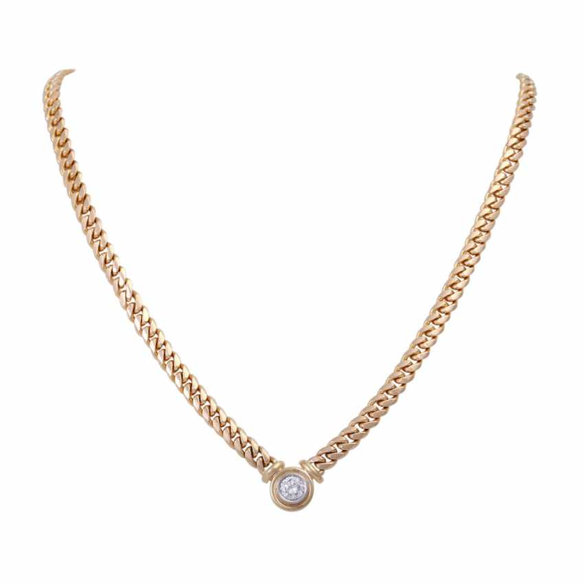 Tank necklace with brilliant, approximately 1.1 ct - photo 1