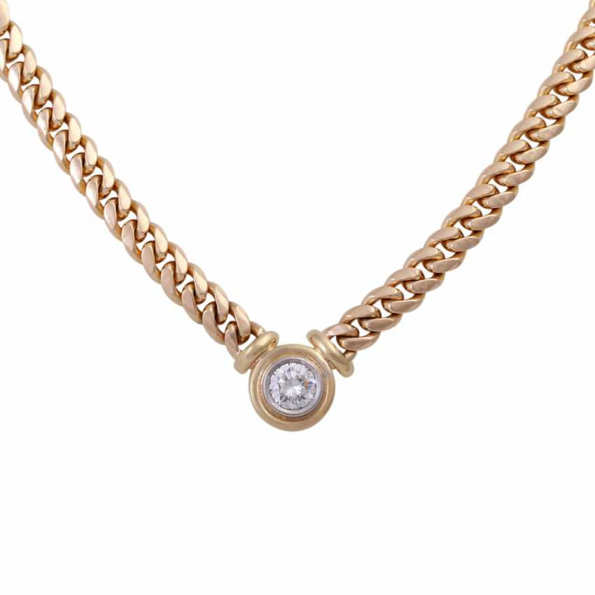 Tank necklace with brilliant, approximately 1.1 ct - photo 2