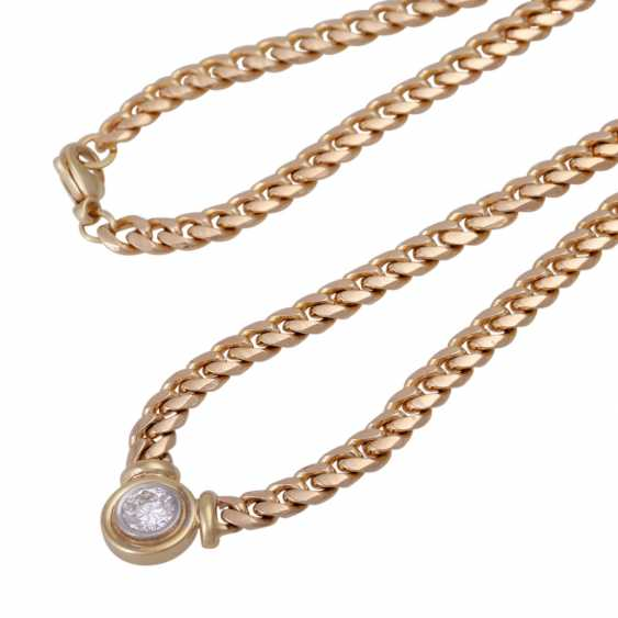 Tank necklace with brilliant, approximately 1.1 ct - photo 4