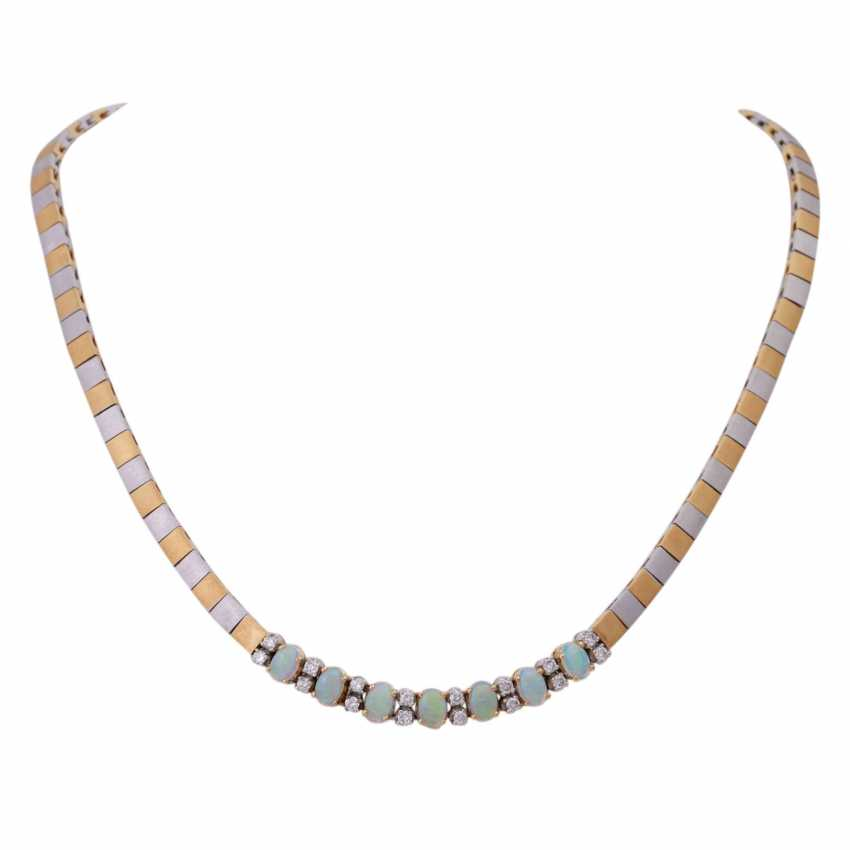 Necklace with crystal opals - photo 1