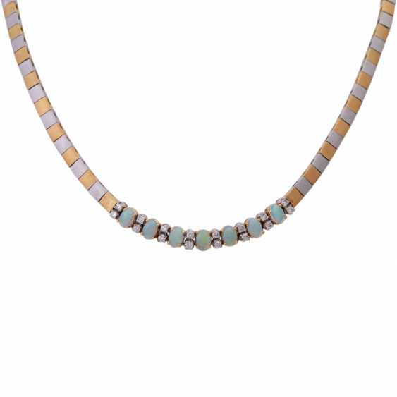 Necklace with crystal opals - photo 2
