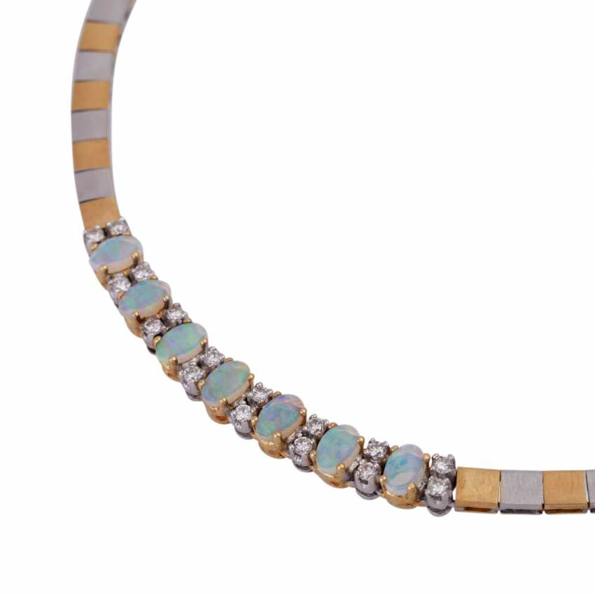 Necklace with crystal opals - photo 4