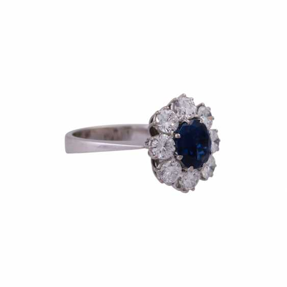 SHILLING Ring with sapphire and diamonds - photo 2