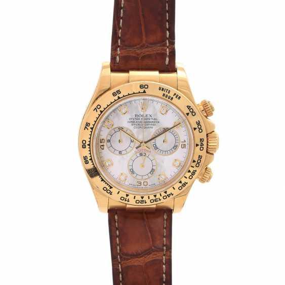 ROLEX Daytona Chronograph Herrenuhr, Ref. 116518, ca. 2001/2002. Gold 18K. - photo 1