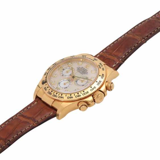 ROLEX Daytona Chronograph Herrenuhr, Ref. 116518, ca. 2001/2002. Gold 18K. - photo 4