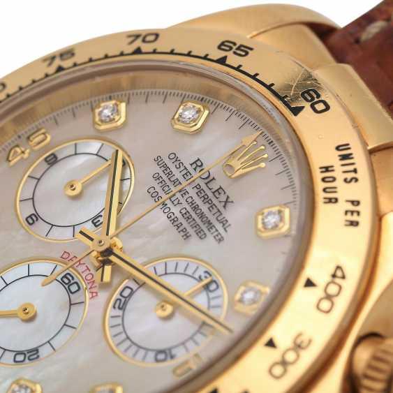ROLEX Daytona Chronograph Herrenuhr, Ref. 116518, ca. 2001/2002. Gold 18K. - photo 5