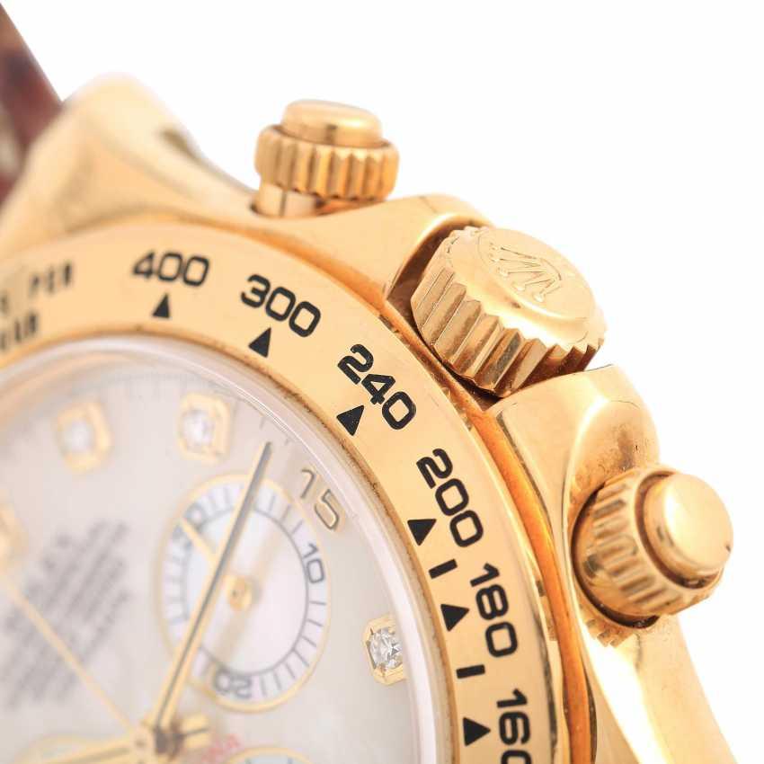 ROLEX Daytona Chronograph Herrenuhr, Ref. 116518, ca. 2001/2002. Gold 18K. - photo 6