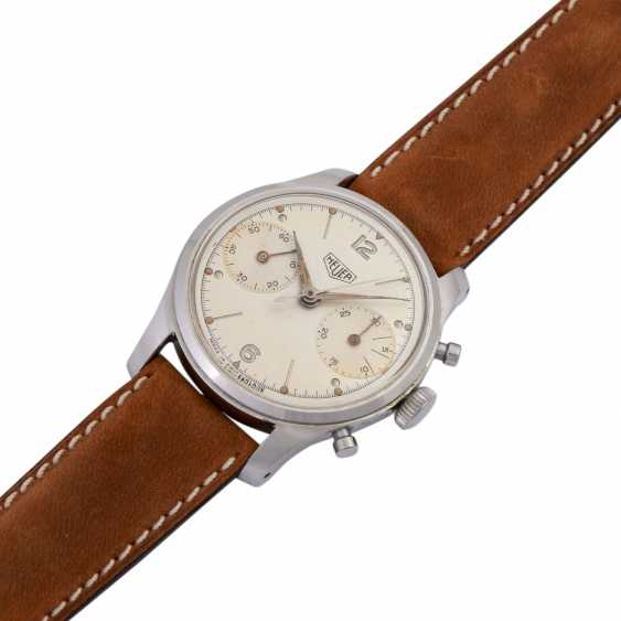 HEUER Pre-Carrera Chronograph men's watch, CA. 1950s. - photo 4