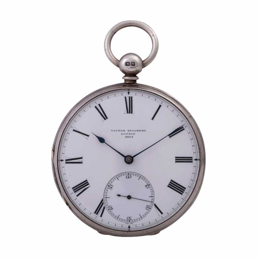 VICTOR KULLBERG pocket watch, ENGLAND, 19th century. Century., Housing, Silver. - photo 1