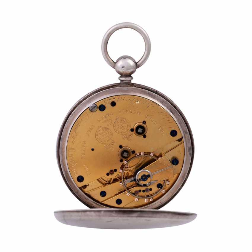 VICTOR KULLBERG pocket watch, ENGLAND, 19th century. Century., Housing, Silver. - photo 4