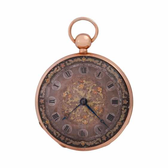 """Pocket watch with chime, approx. the beginning of the 19th. Century., to dial Breguet signed"""""""". - photo 1"""