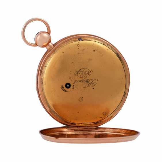 """Pocket watch with chime, approx. the beginning of the 19th. Century., to dial Breguet signed"""""""". - photo 3"""