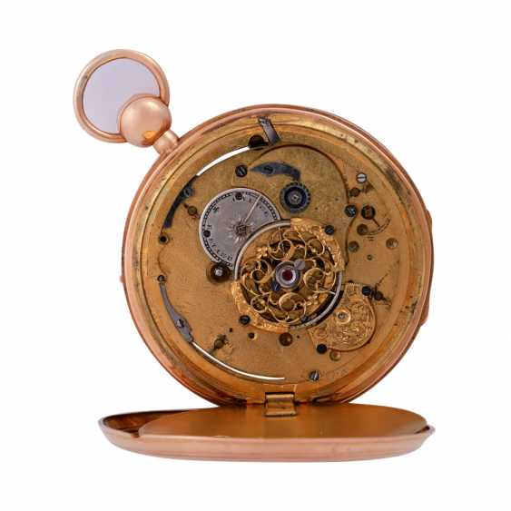"""Pocket watch with chime, approx. the beginning of the 19th. Century., to dial Breguet signed"""""""". - photo 4"""