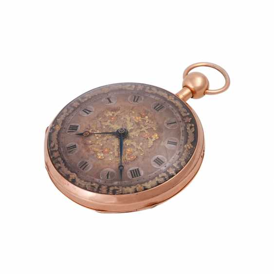 """Pocket watch with chime, approx. the beginning of the 19th. Century., to dial Breguet signed"""""""". - photo 5"""