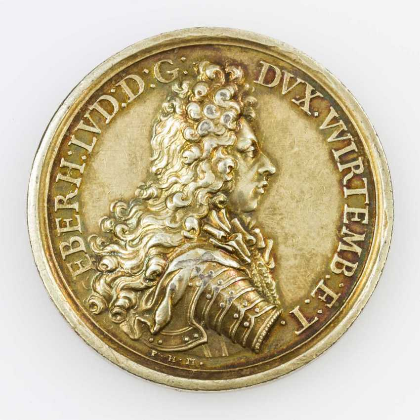 Württemberg medal o. J. (1695), Eberhard Ludwig, Ph. H. Müller, - photo 1