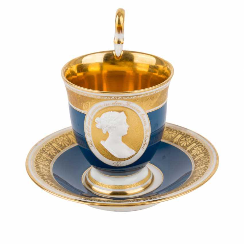 KPM portrait Cup with saucer 'königin Luise', after 1913. - photo 1