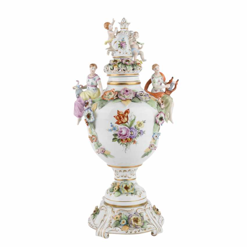 SCHIERHOLZ/PLAUE 3-piece Potpourri-lidded vase, 20. Century. - photo 1