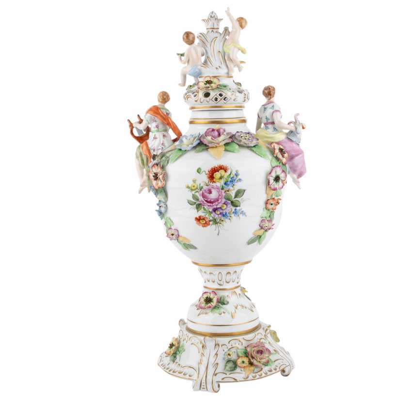 SCHIERHOLZ/PLAUE 3-piece Potpourri-lidded vase, 20. Century. - photo 3