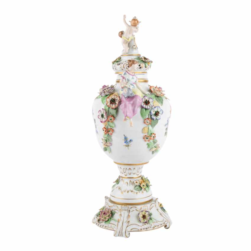 SCHIERHOLZ/PLAUE 3-piece Potpourri-lidded vase, 20. Century. - photo 4