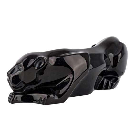 BACCARAT 'schwarzer Panther', 20th century. - photo 2