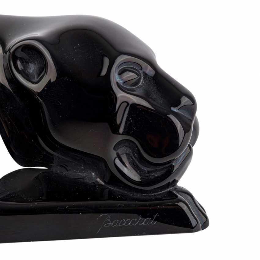 BACCARAT 'schwarzer Panther', 20th century. - photo 5