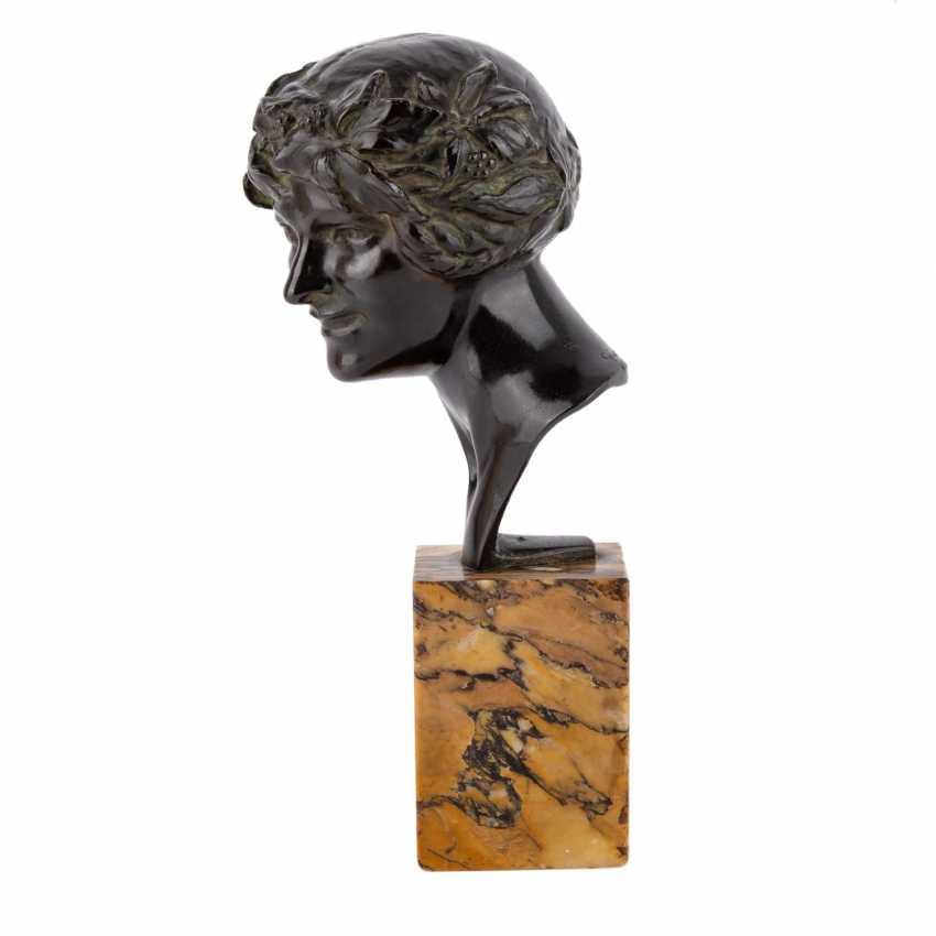 GUIRAUD-RIVIÈRE, MAURITIUS (Toulouse 1881-1947) 'Bacchantenkopf'. - photo 2