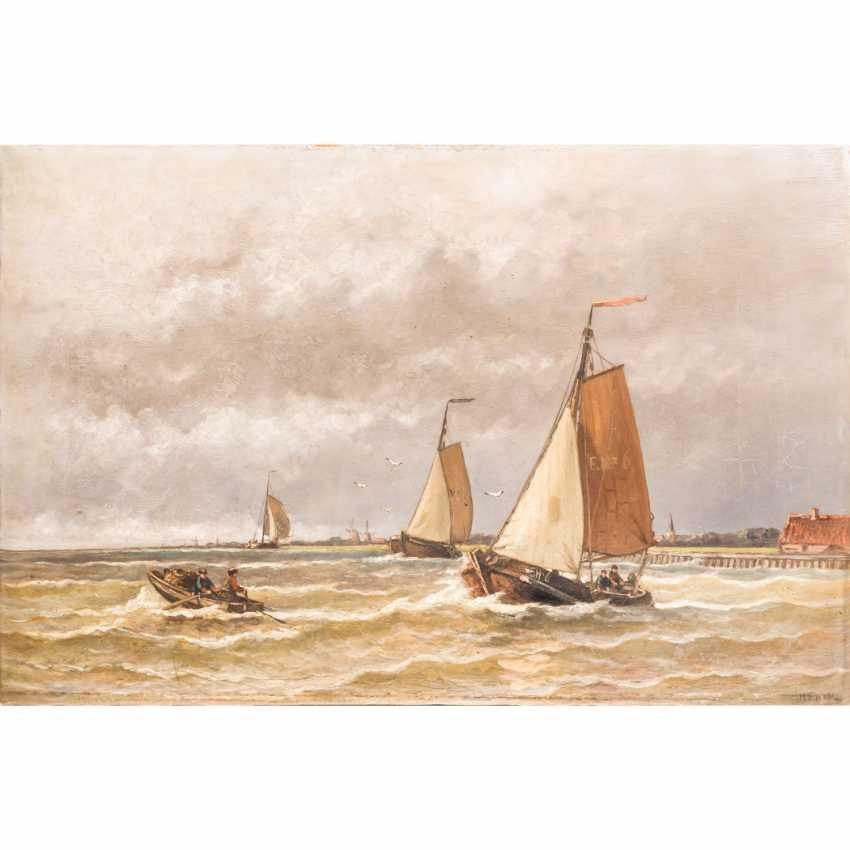 """HULK, HENDRICK (1842-1937), """"fishing boats off the coast of"""", - photo 1"""
