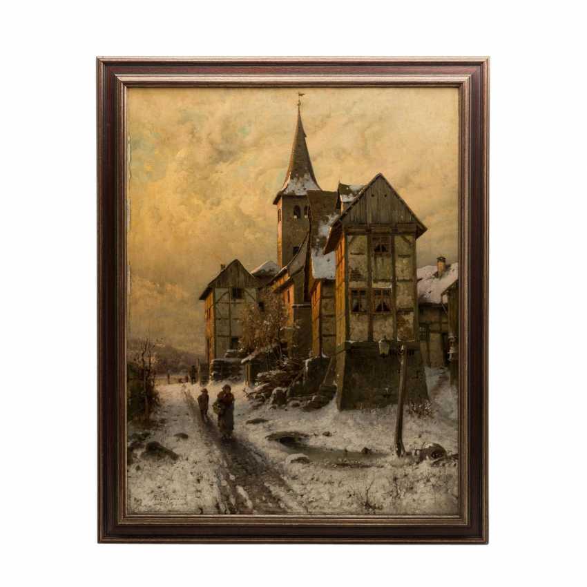 "KOKEN, PAUL (1853-1910), ""evening sun over snowy city edge"", - photo 2"