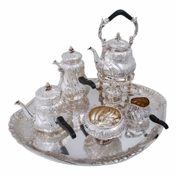 MORITZ ELIMEYER Dresden 7 piece magnificent service on tray, 800 silver, C. 1900. - photo 1