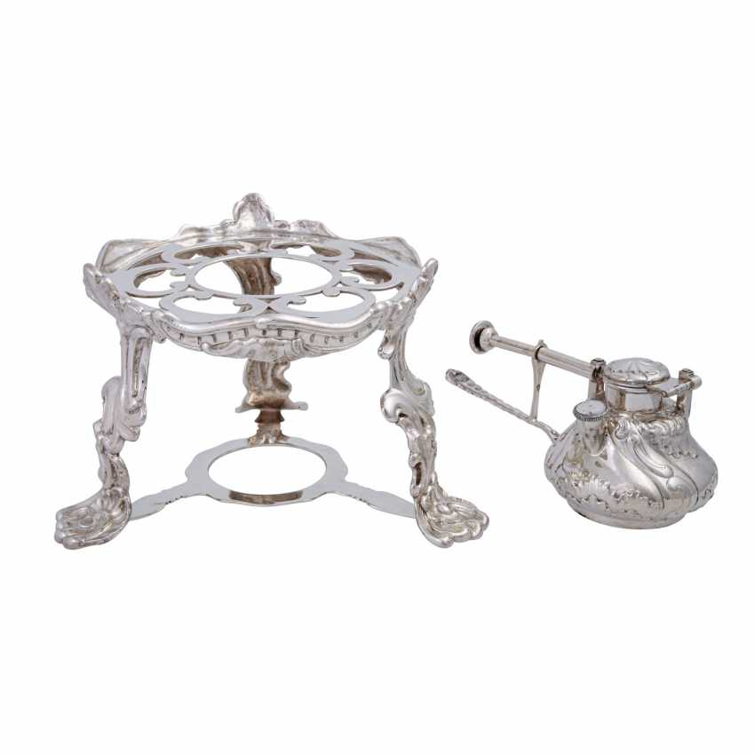 MORITZ ELIMEYER Dresden 7 piece magnificent service on tray, 800 silver, C. 1900. - photo 3