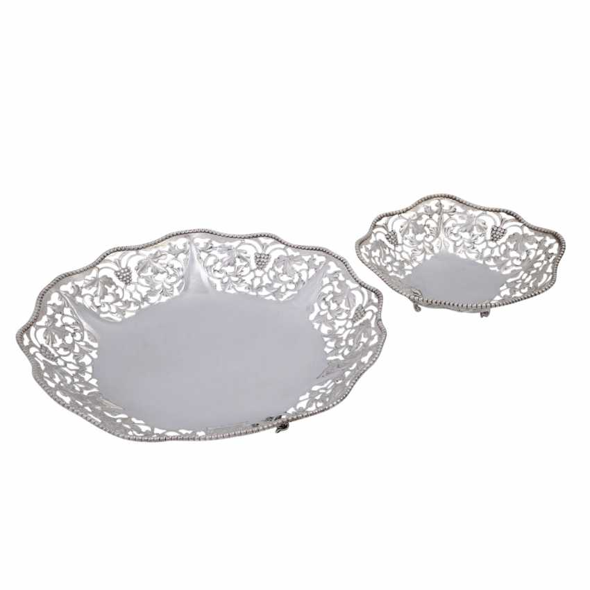 ITALY 2-piece bowls Set, 925 sterling silver, 20. Century. - photo 1