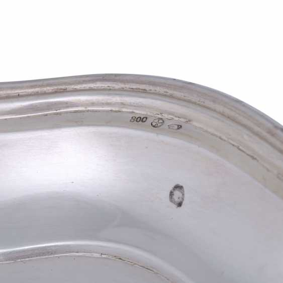 VIENNA oval plate, 800 silver, after 1922. - photo 6