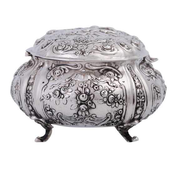 GERMAN lidded box, 800 silver, 1. Half of the 20. Century. - photo 2