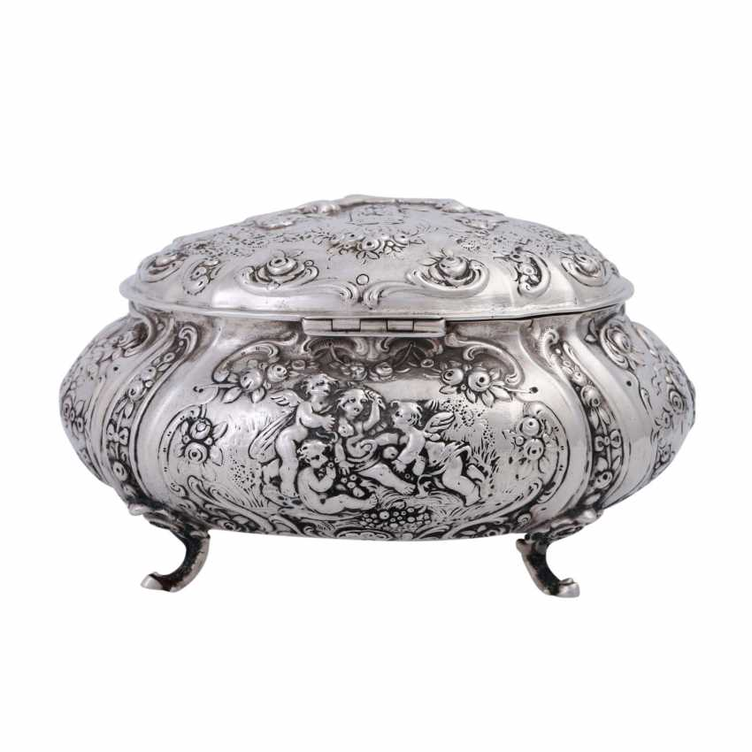 GERMAN lidded box, 800 silver, 1. Half of the 20. Century. - photo 3