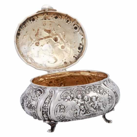 GERMAN lidded box, 800 silver, 1. Half of the 20. Century. - photo 4