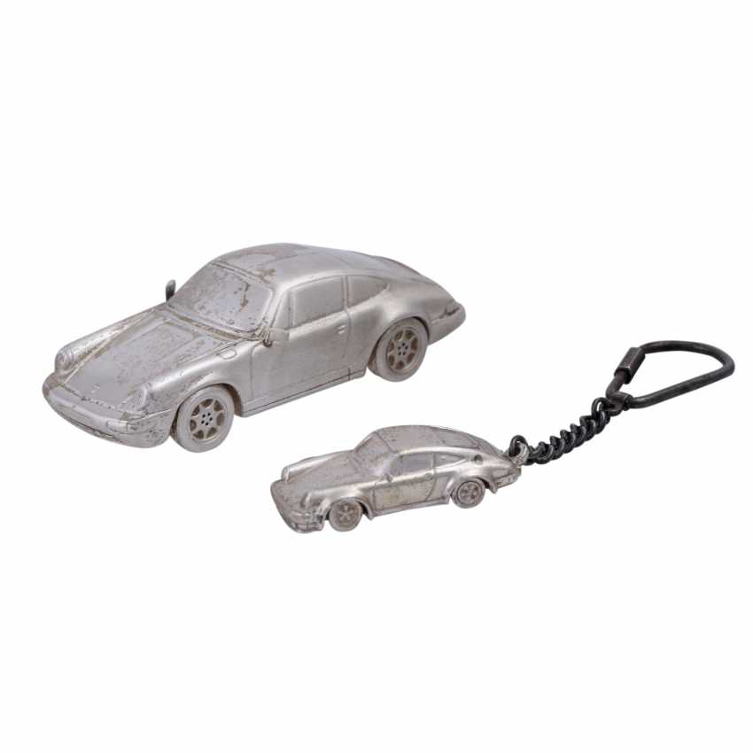 2 Porsche of Miniatures in silver - photo 1