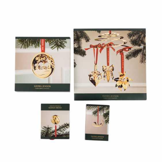 GEORG JENSEN 4-piece collection of 'christmas classics', gilt, 21. Century: - photo 1