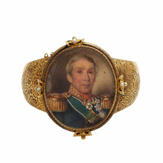 Antique bangle with Portrait v. Franz Corneli, - photo 1