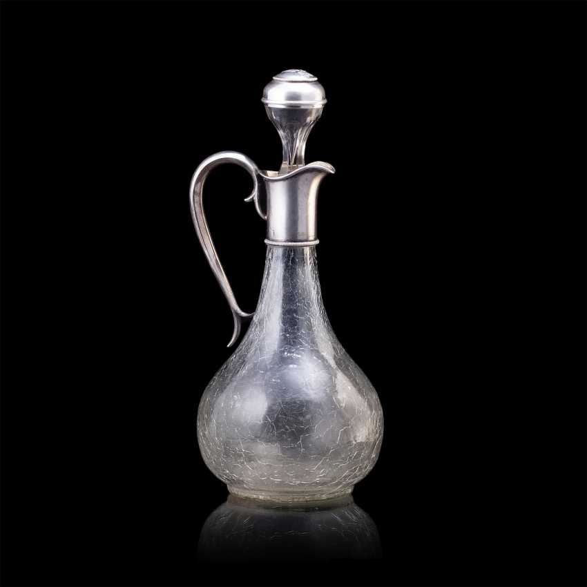 Russian crystal decanter. Faberge - photo 1