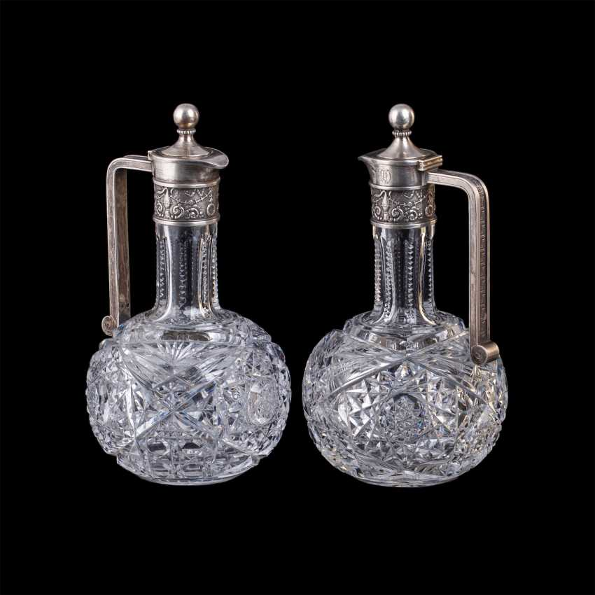 Pair of crystal decanters. Faberge - photo 1