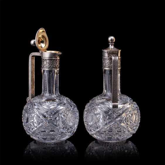 Pair of crystal decanters. Faberge - photo 2